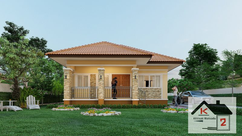 Picture of Simple Bungalow House Design with Terrace