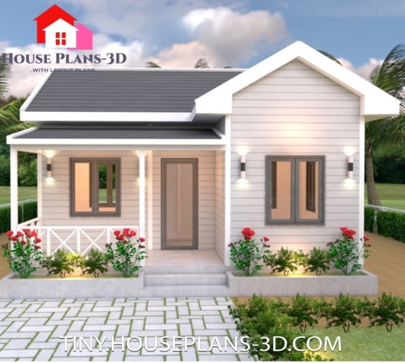 Simple One Storey House Design with Gable Roof