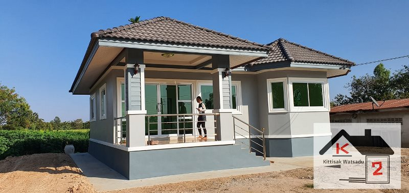 Picture of Contemporary Style House Design with Grey Exterior