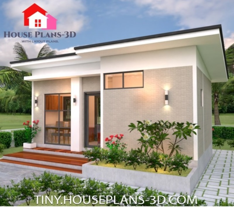 Picture of Simple One Bedroom House Plan in 35 m² Lot