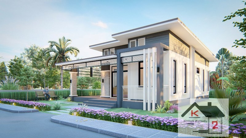 Picture of Single Storey Contemporary House Plan with Splendid Exterior Design